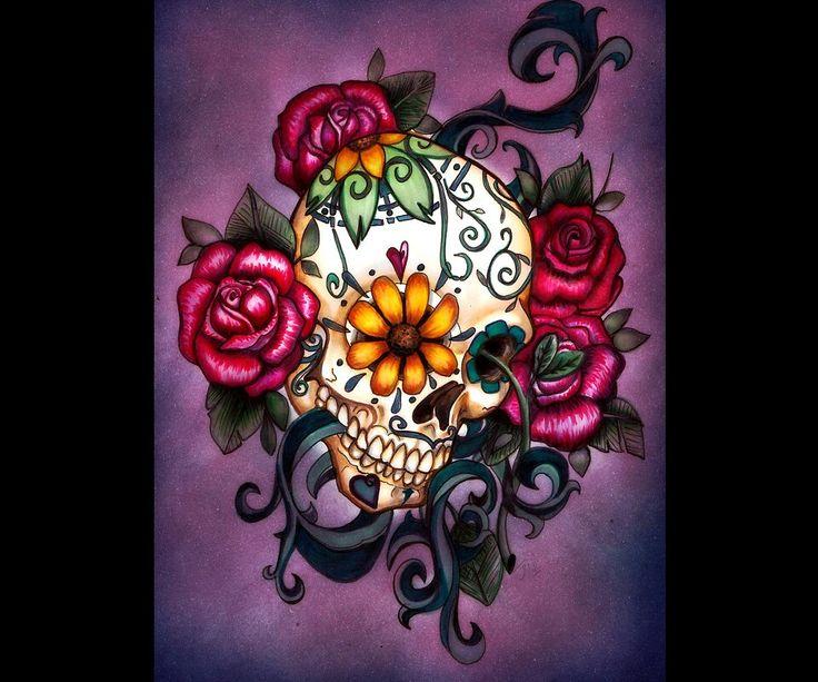 wallpaper additionally sugar skull - photo #27
