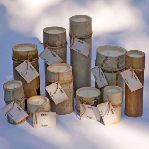 Hand-crafted, Eluminy, Natural Soy Bamboo Candles
