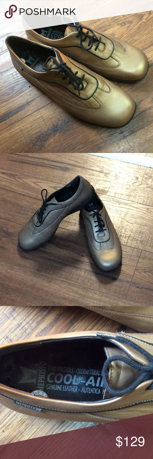 MEPHISTO COOL AIR Comfort shoes, Matte Gold, 7 POSSIBLY THE MOST COMFORTABLE WALKING SHOE, MEPHISTO has been making these in France for many years.  Coveted by many, these are hard to get! MEPHISTO Shoes Athletic Shoes