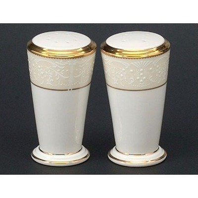 Noritake White Palace Salt & Pepper Shakers by Noritake CO., INC.. $72.00. Bone China. White Palace Salt & Pepper Shakers. World Famous Noritake Quality, Value and Design.. Elegant Dining. Dishwasher Safe. Since 1904, Noritake has been bringing beauty and quality to dinner tables around the world. Superior artistry and craftsmanship, attention to detail and uncompromising commitment to quality have made Noritake an international trademark during this past century. Noritak...