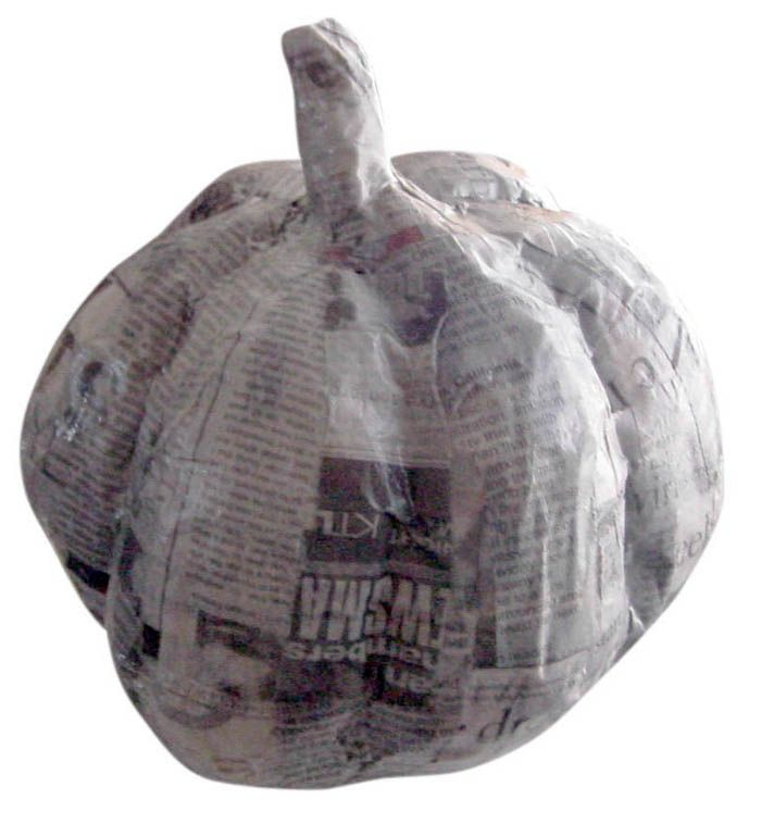 This pumpkin art project turns trash into treasure. Use up old plastic shopping bags and make them into something special.
