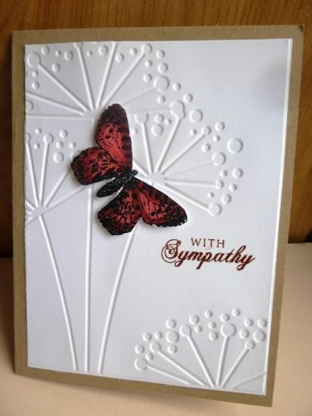 Butterfly sympathy by hultenlk - Cards and Paper Crafts at Splitcoaststampers by Cloud9