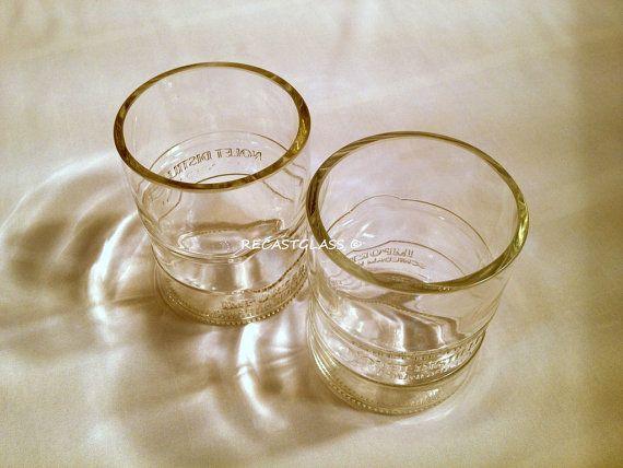 Kettle One Vodka - Kettle one Glasses - Repurposed Liquor bottle - Tumblers - Kettle One - Man Cave gift - rocks glasses - christmas gift by RecastGlass