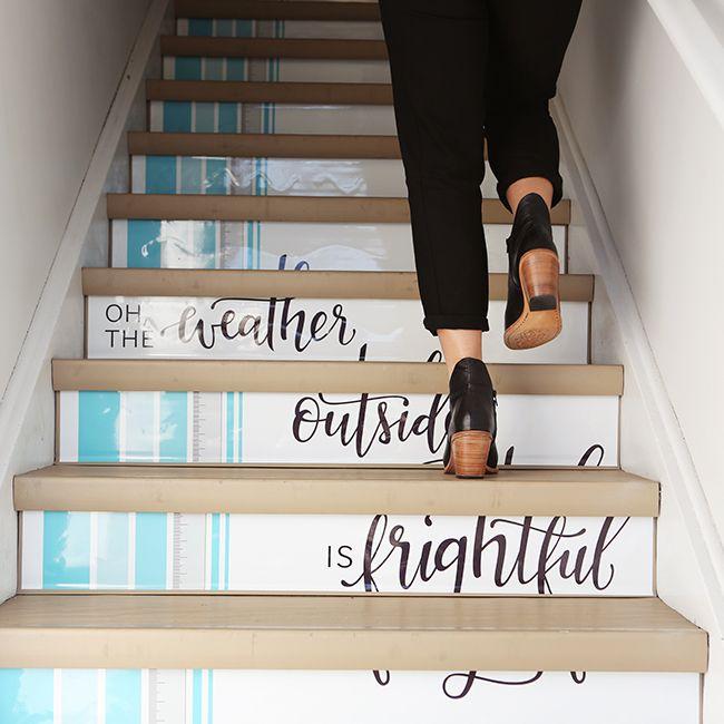 Stairway Design - Poppy Barley Showroom - Holiday Calligraphy - Photo by Andrea Hanki