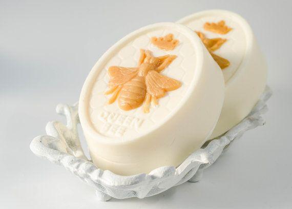 Queen Bee goats milk soap, honey bee soap