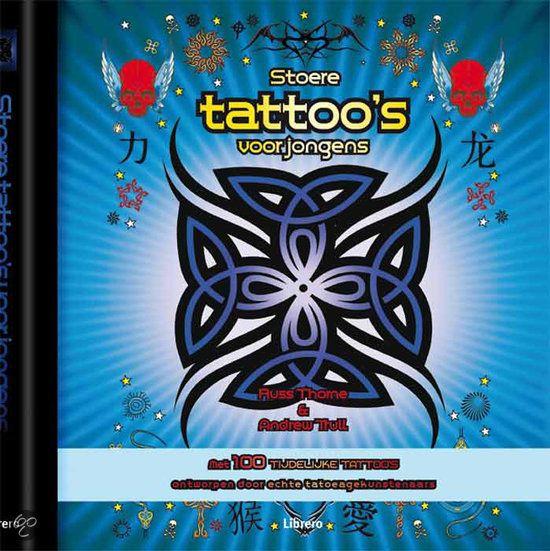 Stoere Tattoo'S Voor Jongens - Russ Thorne - 9789089980687. In dit boek zitten 100 lang houdbare transfers in de tien populairste stijlen. Tribal, gothic of iets geinigs voor op het strand, er is genoeg om uit te kiezen. Bij elke tattoo krijg je een uitleg van de symboliek en de betekenis die erachter zit. GRATIS VERZENDING - BESTELLEN BIJ TOPBOOKS VIA BOL COM OF VERDER LEZEN? DUBBELKLIK OP BOVENSTAANDE FOTO!