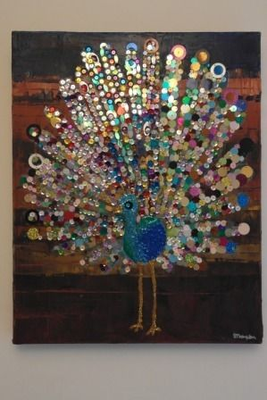 'Check Me Out Collage' Original Mixed Media Collage - add some sparkle to Christmas! £150 by Sarah Lovell Art #SmallBizSatUK #handmadehorizons