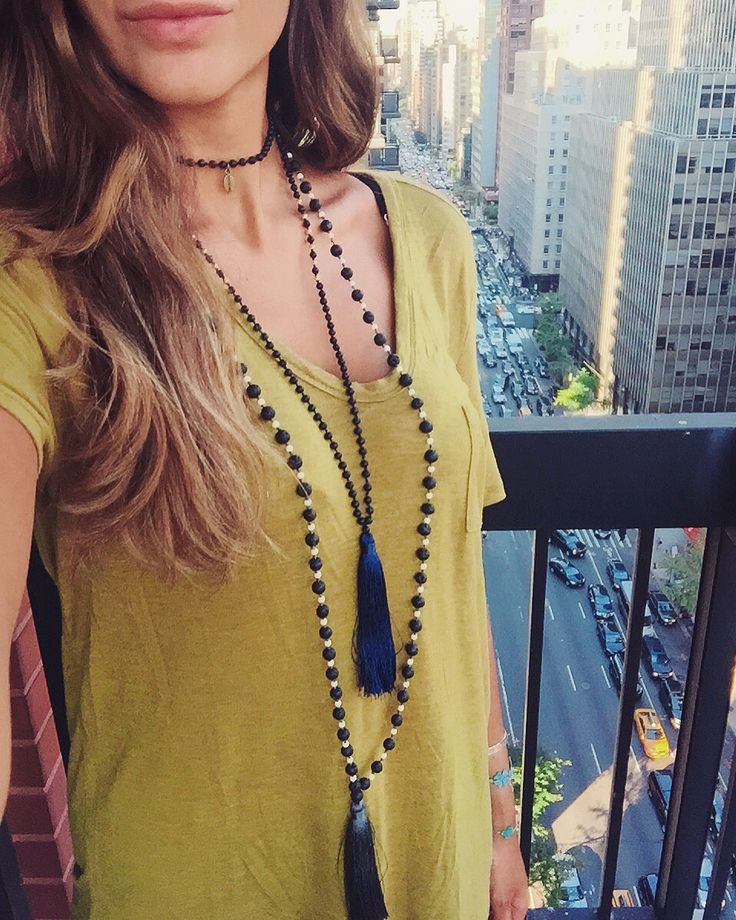 Zacasha Tassel necklaces are made for layering!