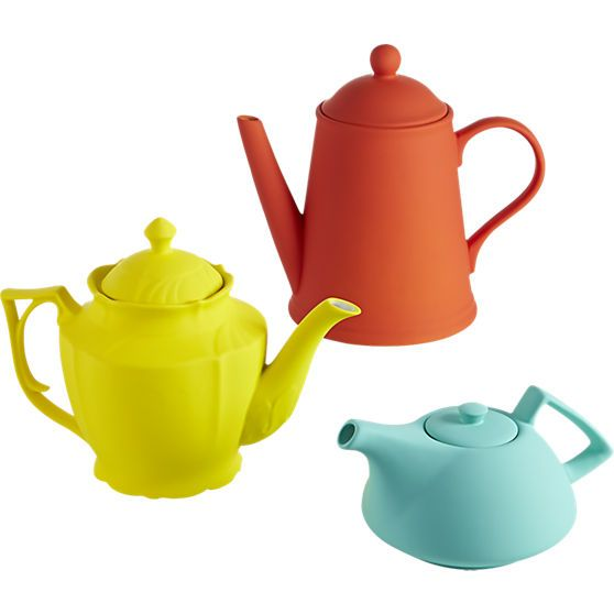 love the orange and/or the yellow teapot