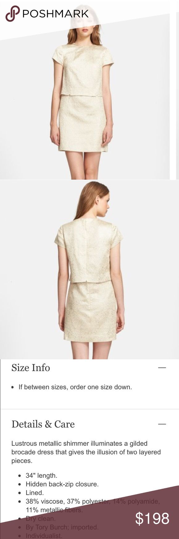 Tory Burch Brielle Metallic-Brocade Dress Tory Burch Brielle Metallic-Brocade Dress. Size 6. In excellent condition! Retails for $425.00 but is now sold out! Will upload pictures tomorrow. Tory Burch Dresses