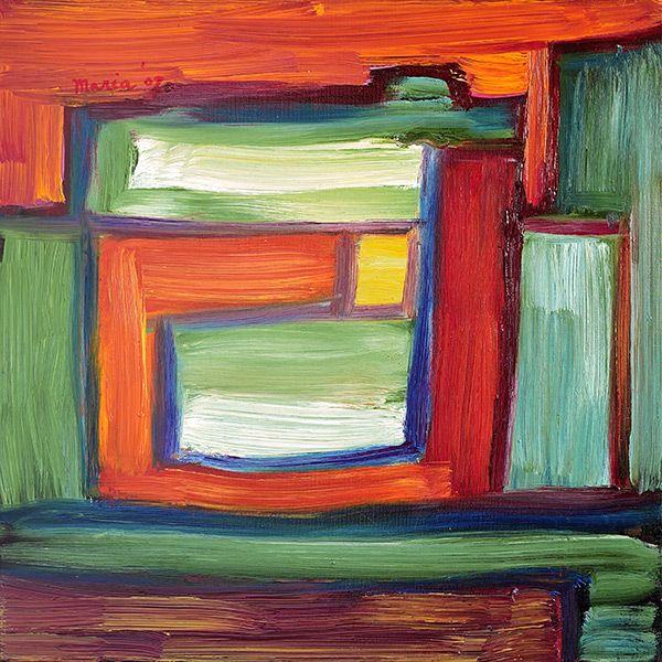 Compositie, abstract schilderij. 40 x 40, © 2007, niet te koop | Olieverf | Op doek