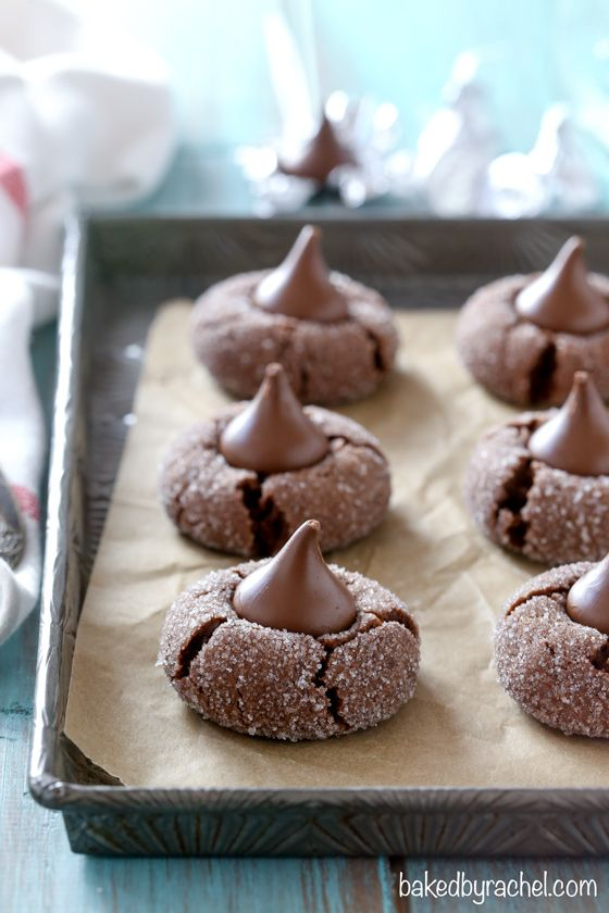Chocolate kiss cookie recipe from @bakedbyrachel