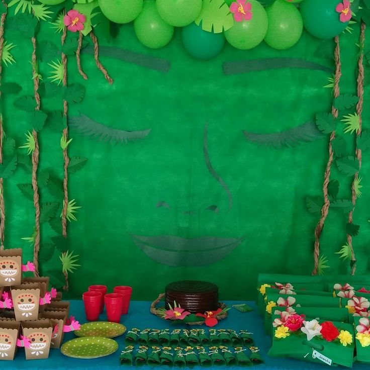 Te Fiti as background for table set up - LOVE this!