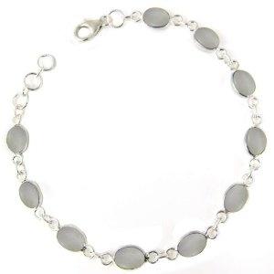 Handmade Jewellery in India Sterling Silver Rainbow Bracelet 8 inches (Jewelry)  http://balanceddiet.me.uk/lushstuff.php?p=B005O8S4YM  B005O8S4YM
