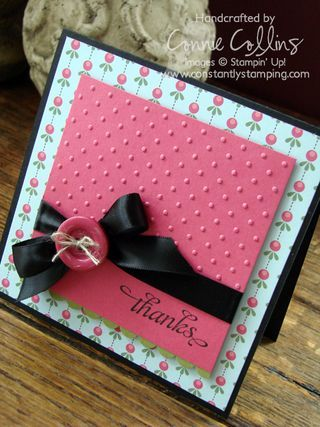 Thank You card, love how they embossed just the top so you can stamp the bottom easily.