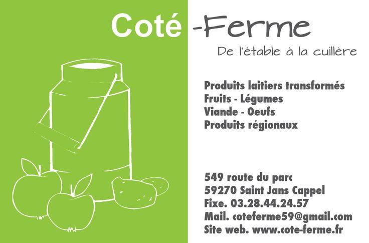 Carte De Visite Ct Ferme 072013 Vente La Farm Shop