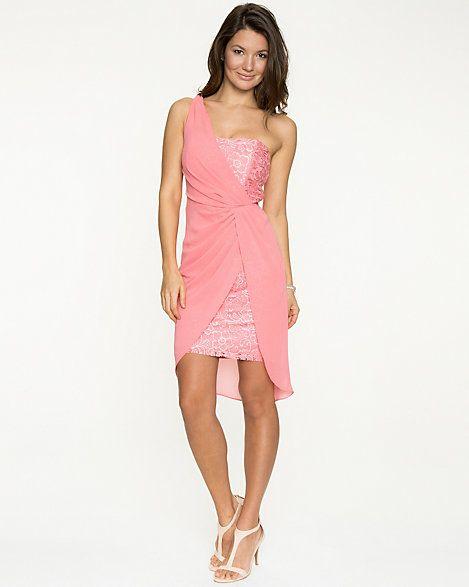 Crêpe Chiffon One Shoulder Dress
