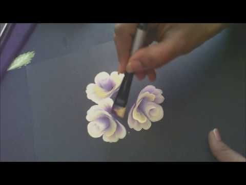 One Stroke Painting Tutorial- Painting Roses with Base And Some Useful Tips - YouTube