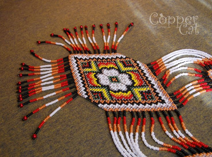"Gerdan ""August"" by ""Copper Cat Art Group"" Seed beads jewelry Czech seed beads"