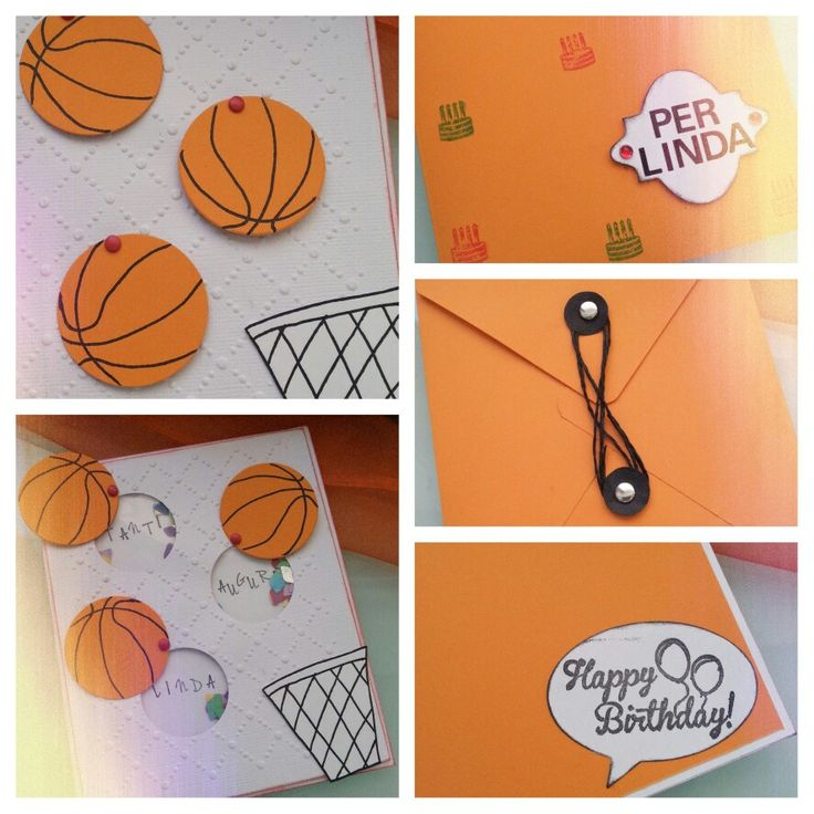 Shaker card per un'appassionata di basket!  Auguri Linda!