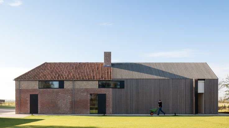 Farmhouse Burkeldijk and fortress Hazegras in Knokke by Govaert & Vanhoutte Architects