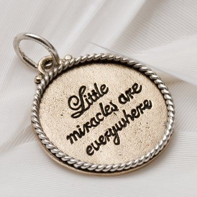 Miracles charm 1003 > RRP $AUD26.40 | #miracles #life #palas #lovepalas #palasjewellery #quote #words #inspirational
