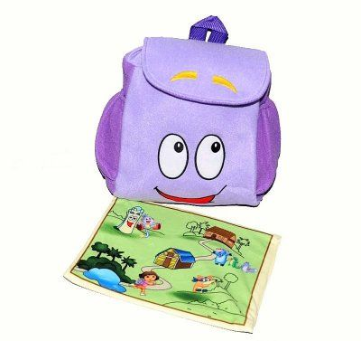 Dora utforskarens ryggsäck + karta