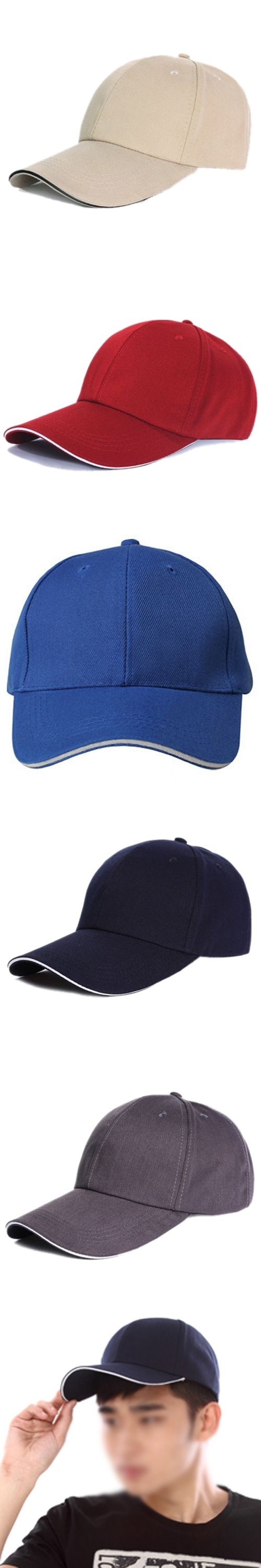 Hot Plain Baseball Cap Mens Ladies Adult Hat Summer