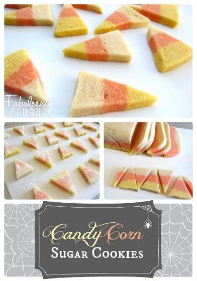 candy corn sugar cookies cream cheese sugar cookies halloween cookies ...
