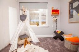 Boy's bedroom | The Home Team | Channel 10 | cut pile twist carpet | Get the look with eco+ Sunrise in Summer Storm. #godfreyhirst #boysbedroom #carpet #ecopluscarpet #kidsbedroom