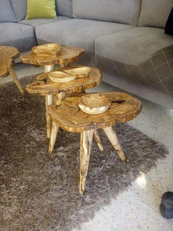 Table En Bois De Luxe Table En Bois D Olivier A La Main Unique Live Table Du Cafe Meubles En Bois Bord Set De Tabl Handmade Wooden Mesquite Wood Rustic Wood