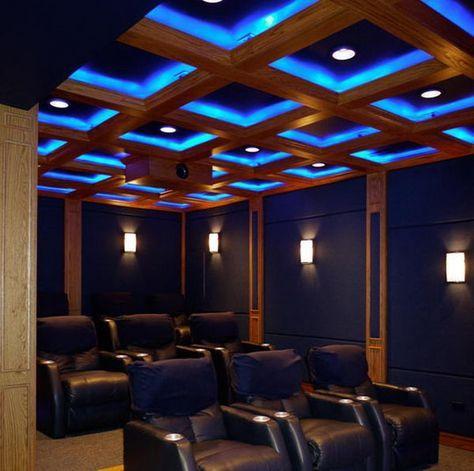Home Theater Ceiling Idea - 20  Cool Basement Ceiling Ideas,