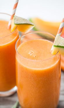 Cantaloupe-Veggie Smoothie I'm curious to see how the tomato tastes with the cantaloupe and pineapple