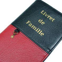 ★ reserve ★ : livret de famille : étui housse protège livret en simili cuir