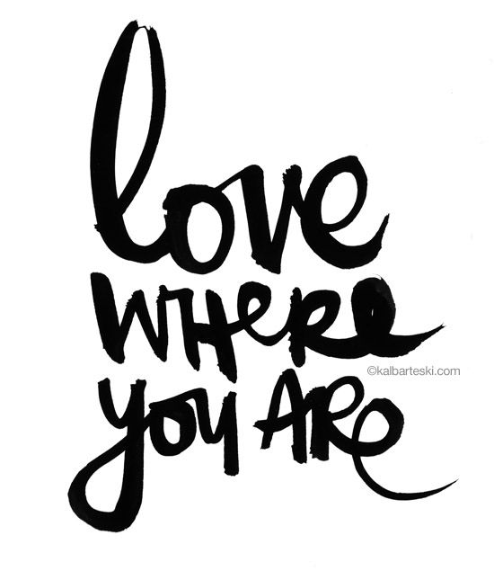 love where you are ❥