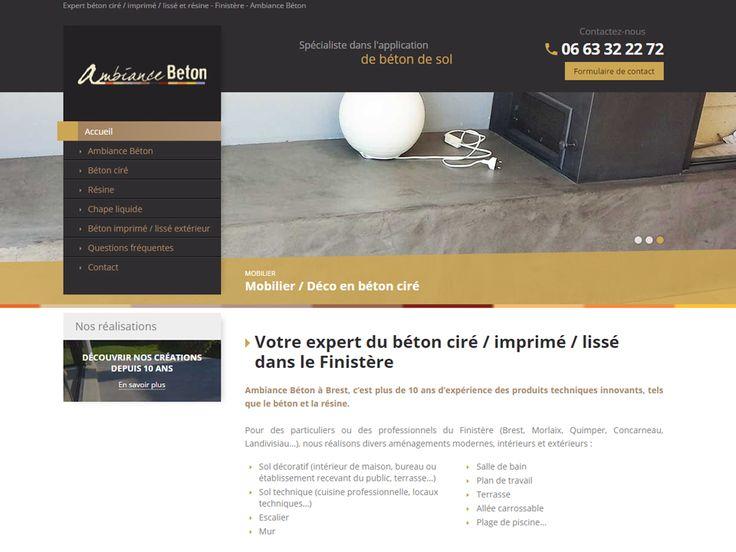 Expert du béton ciré / imprimé / lissé à Brest dans le Finistère