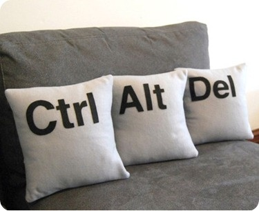 Ctrl - Alt - Del Three Pillow Set- Geeks Need Pillows Too- Made with Eco-Felt