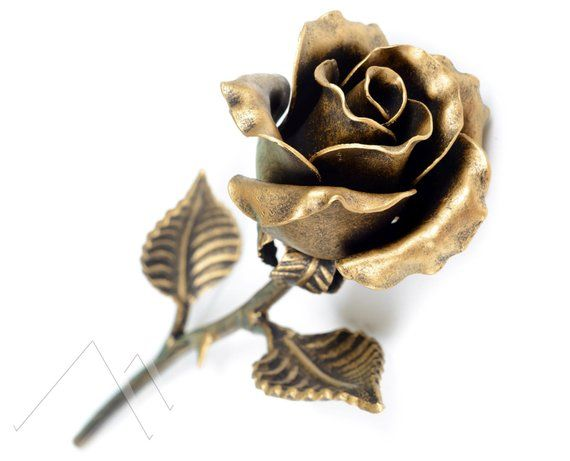 Handmade Metal Rose Bronze Stained 8th Anniversary Gift Etsy Bronze Anniversary Gifts Unique Anniversary Gifts Anniversary Gifts