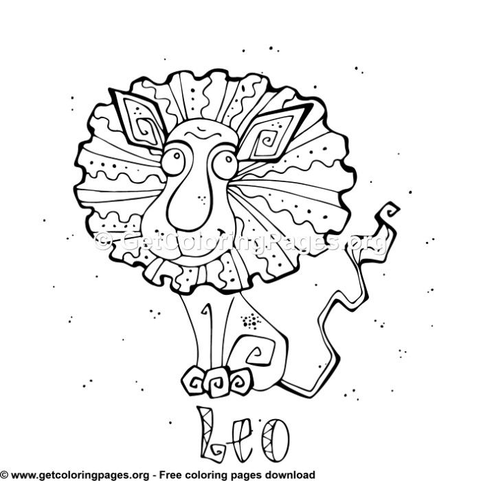 Zodiac For Kids Leo Coloring Pages Zodiac Signs Colors Coloring Pages Free Coloring Pages