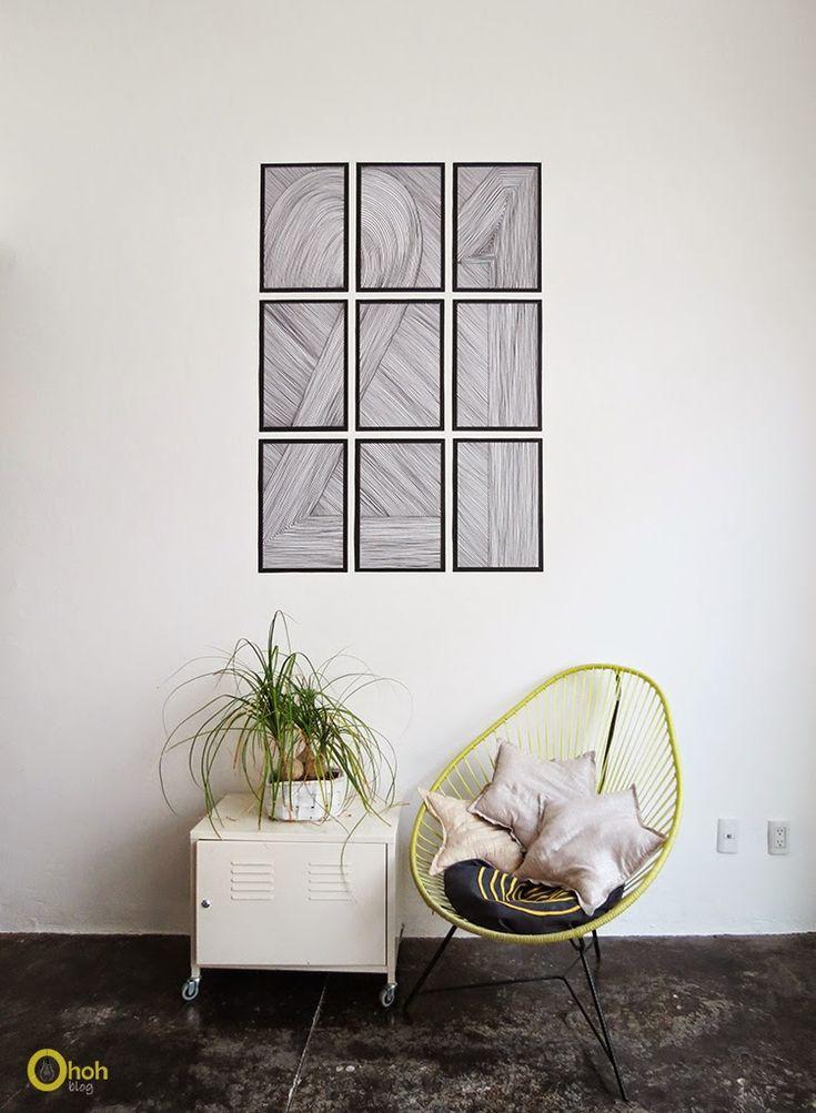 Ohoh Blog - DIY easy wall art - paper wall art