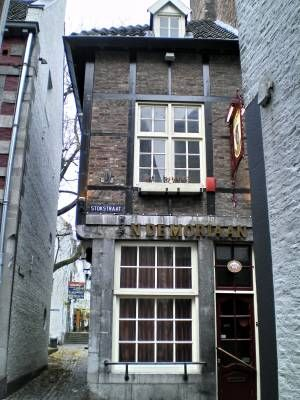 In de Moriaan, Maastricht, The Netherlands. Used to be (before it was expanded) the smallest bar in the Netherlands. It is now to location of our party, AKA: the wedding reception.