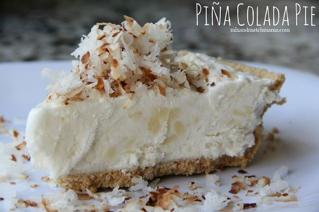 Frozen Piña Colada Pie