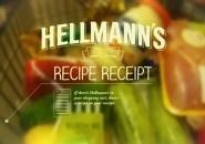 Hellman's imprime receita no cupom fiscal do supermercado de acordo com os produtos do seu carrinho