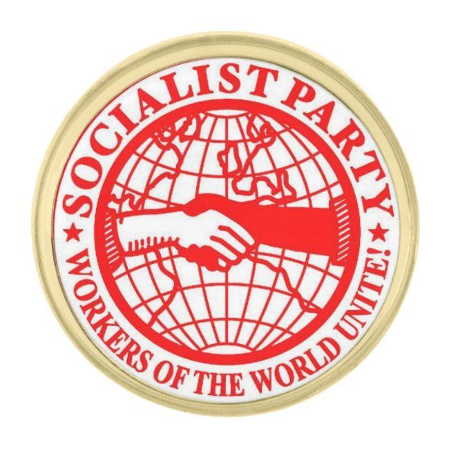 Socialist Party Usa Gold Finish Lapel Pin Zazzle Com Custom Lapel Pins Lapel Pins Usa Gold