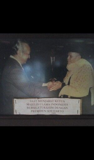 While serving as Chairman of the Group of scholars visiting Indonesian President soeharto to the House
