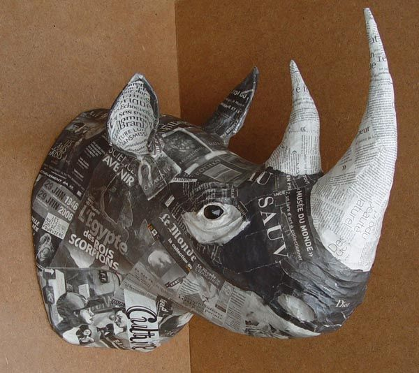 papmache ideer on Pinterest | Paper Mache, Animal Heads and Papier ...