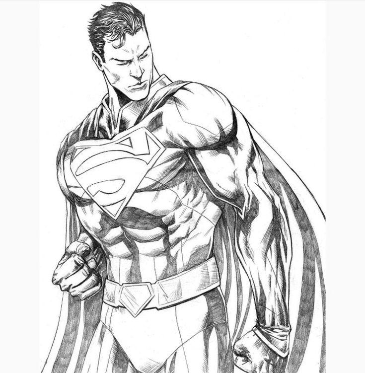 Супергерой картинки карандашом
