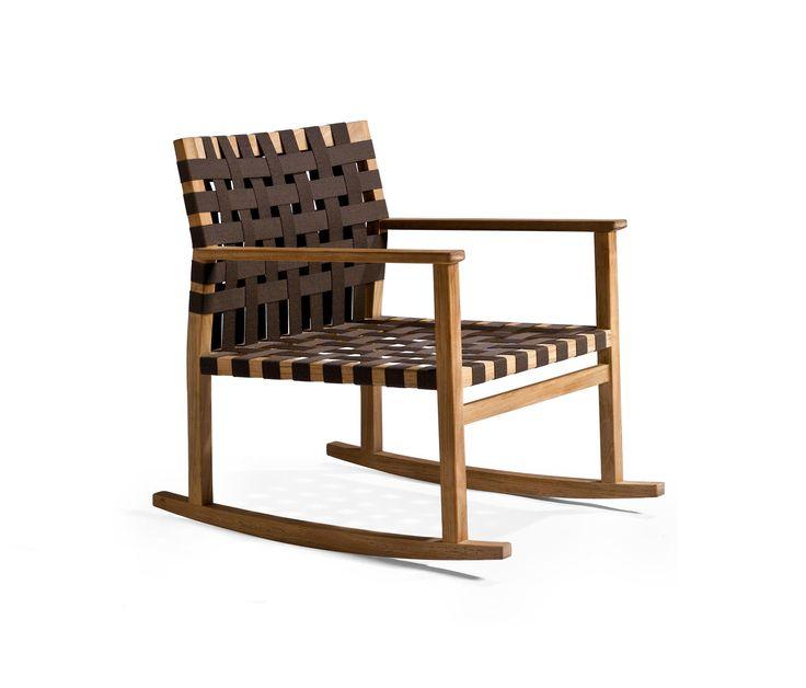 Vis à Vis Rocking chair by Tribu Garden armchairs