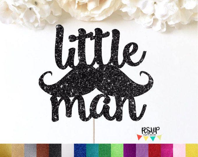 Little Man Cake Topper, Little Man Party Decor, Smash Cake Topper, Moustache Cake Topper, Mustache Cake Topper, Boy Birthday Decorations