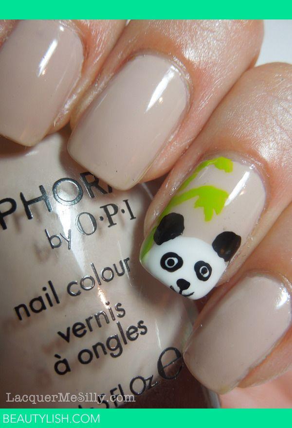 Peek-a-boo Panda Mani | Frances T.'s (LacquerMeSilly) Photo | Beautylish